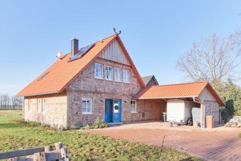 Neues mit Altem charmant in Szene gesetzt: Modernes Eichen-Fachwerkhaus, hochwertig ausgestattet, 27327 Schwarme, Einfamilienhaus